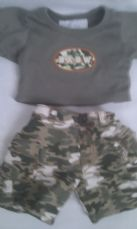 Adorable Build-a-Bear 'Army' 2-Piece Outfit